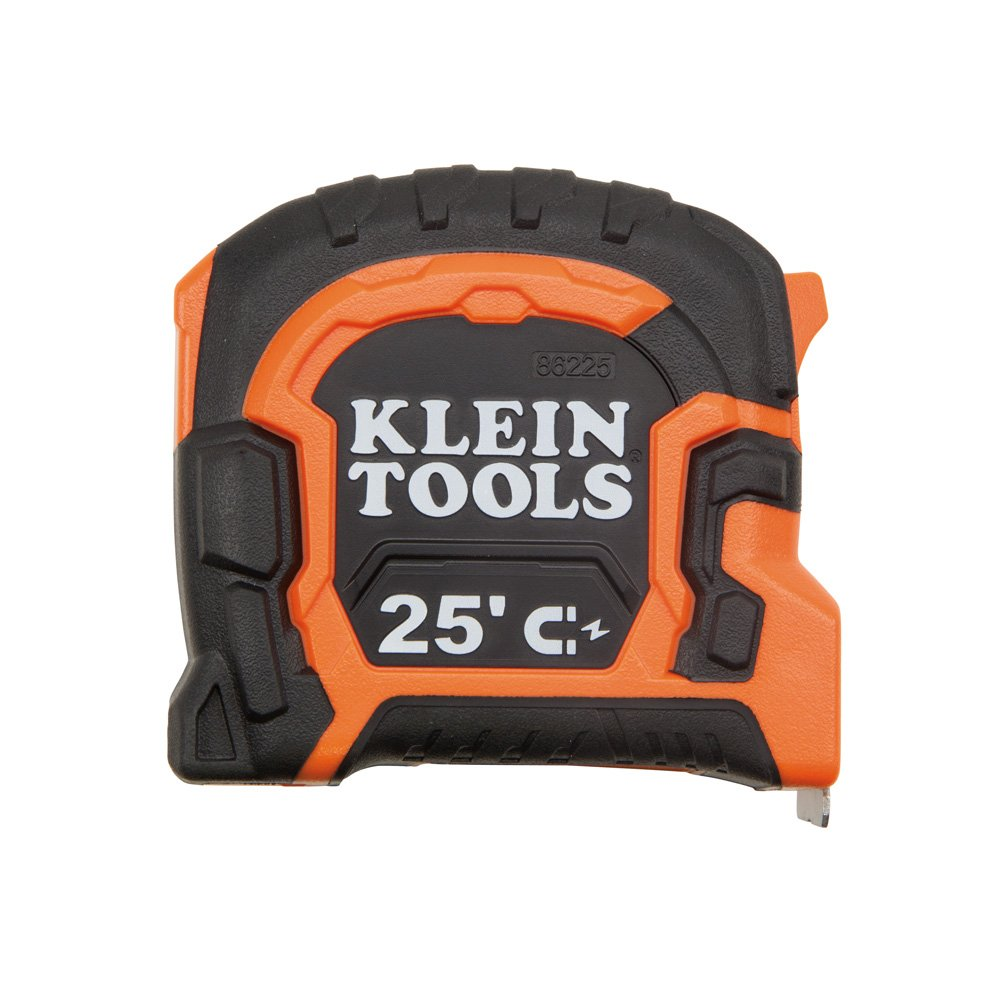 Tape Measure, 25-Foot Double Hook Magnetic with Finger Brake, Easy to Read Bold Lines Klein Tools 86225 by Klein Tools (Image #3)