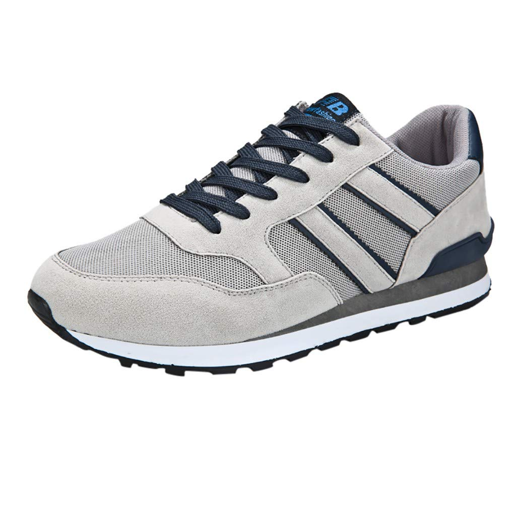 Lloopyting Mens Lightweight Fashion Sneakers Outdoor Tennis Shoes Light Weight Comfort Casual Shoes Gray