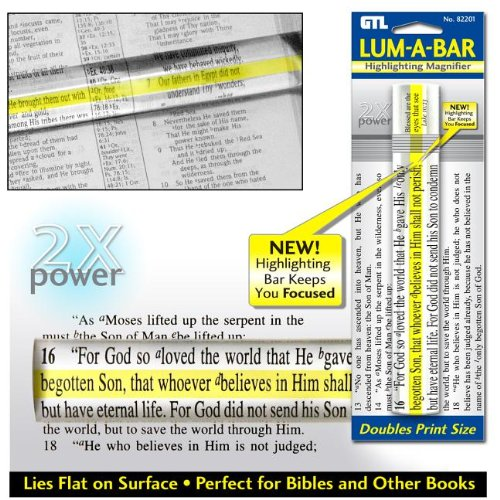 Lum-A-Bar Highlighting Magnifier: - Magnifier Carded