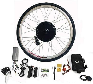 MOMOJA Kit de conversión de Rueda Trasera eléctrica LCD para Bicicleta 28 (36V 500W): Amazon.es: Deportes y aire libre