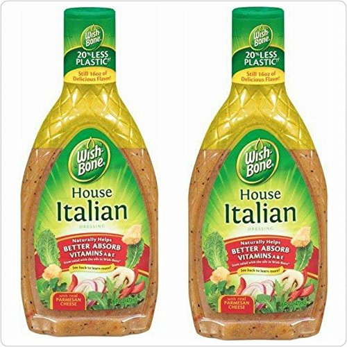 - Wish Bone House Italian Dressing (Pack of 2) 16 Oz Bottles