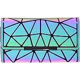 Women Holographic Wallet Geometric Luminous Wallets Lumikay Purse Long Wallet Flash Cross Body Bag