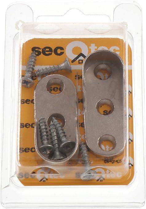 niquelados hutmontage tubo armario almacén para tubo 15 mm tornillos incl 2