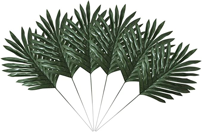 Naoao 20pieces Artificial Plants Palm Leaves Faux Fake Tropical Plastic Palm Tree Leaf Greenery Floral Arrangement Wedding Home Office Kitchen Decoration Amazon Co Uk Kitchen Home Ferns, rubber fig trees and areca palms make the perfect it's hard to choose just one type of tropical leaf, that's why we created a visual guide to help you determine your favorite types. amazon co uk