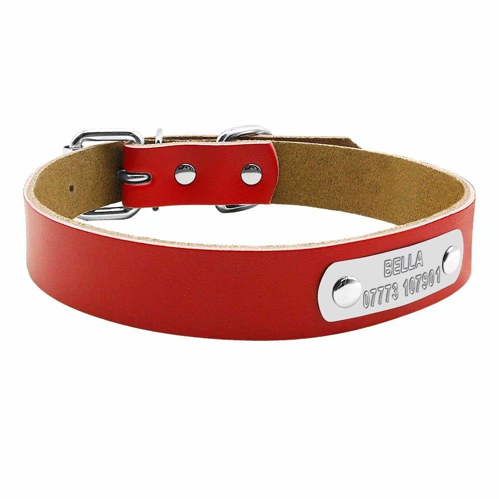 Collar Berry para perro de piel suave, con grabado personalizado, tamaños XS, S, M y L BerryPet