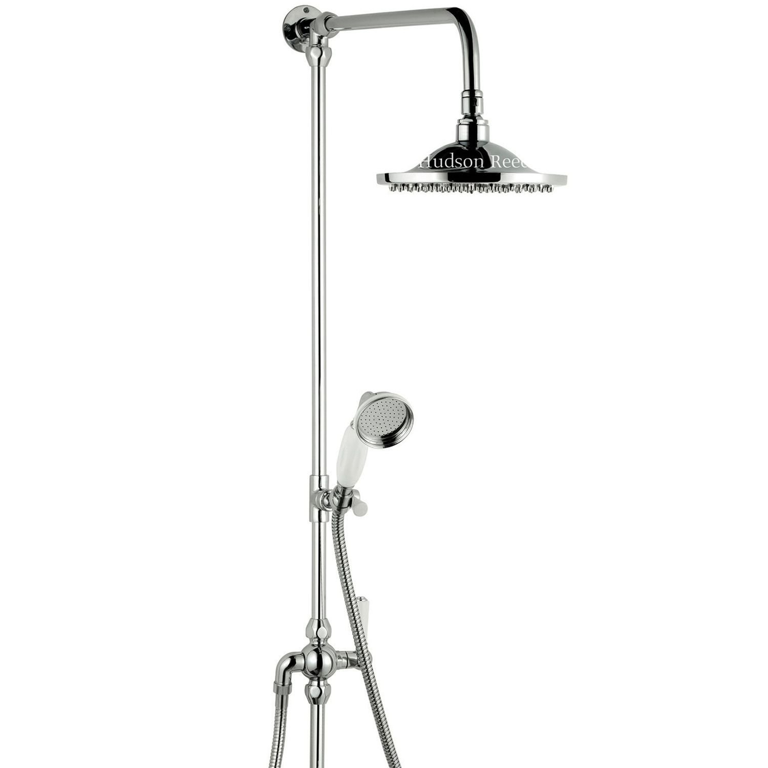 Chrome Traditional Grand Rigid Riser with Fixed Round Overhead ...