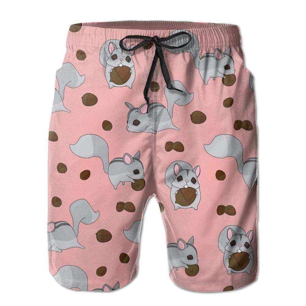 BBggyh Cute Squirrel Mens Colorful Beach Shorts Swim Trunks