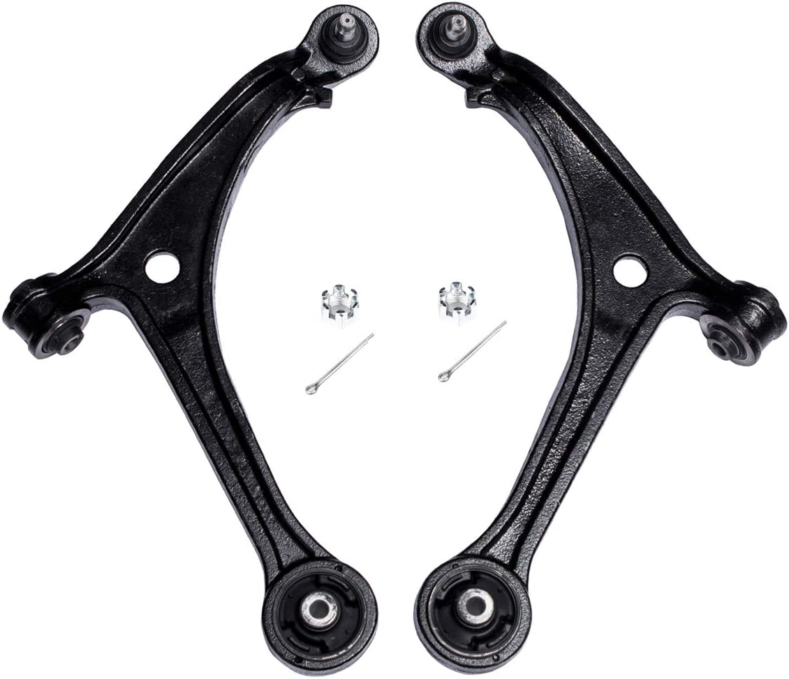 Left Right Front Lower Control Arm and Ball Joint Assembly Compatible 2005 2006 2007 2008 2009 2010 Honda Odyssey Driver Passenger Side 2PCS AUQDD K620504 K620505 Professional Suspension