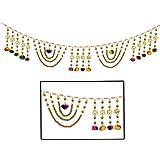 Amba Handicraft Door Hanging Toran Window Valance Dream Catcher Home D/écor Interior Pooja bandanwaar Diwali Gift Festival Colorful Indian Handicraft Love.TORAN34