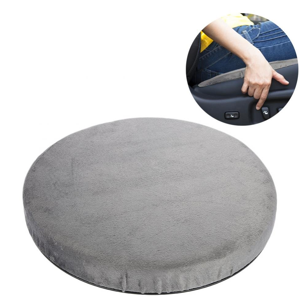 ZJchao Swivel Seat Cushion, 360° Rotating Car Swivel Seat Cushion Rotatory Chair Pad Comfort Skidproof Antiskid Office Home Use