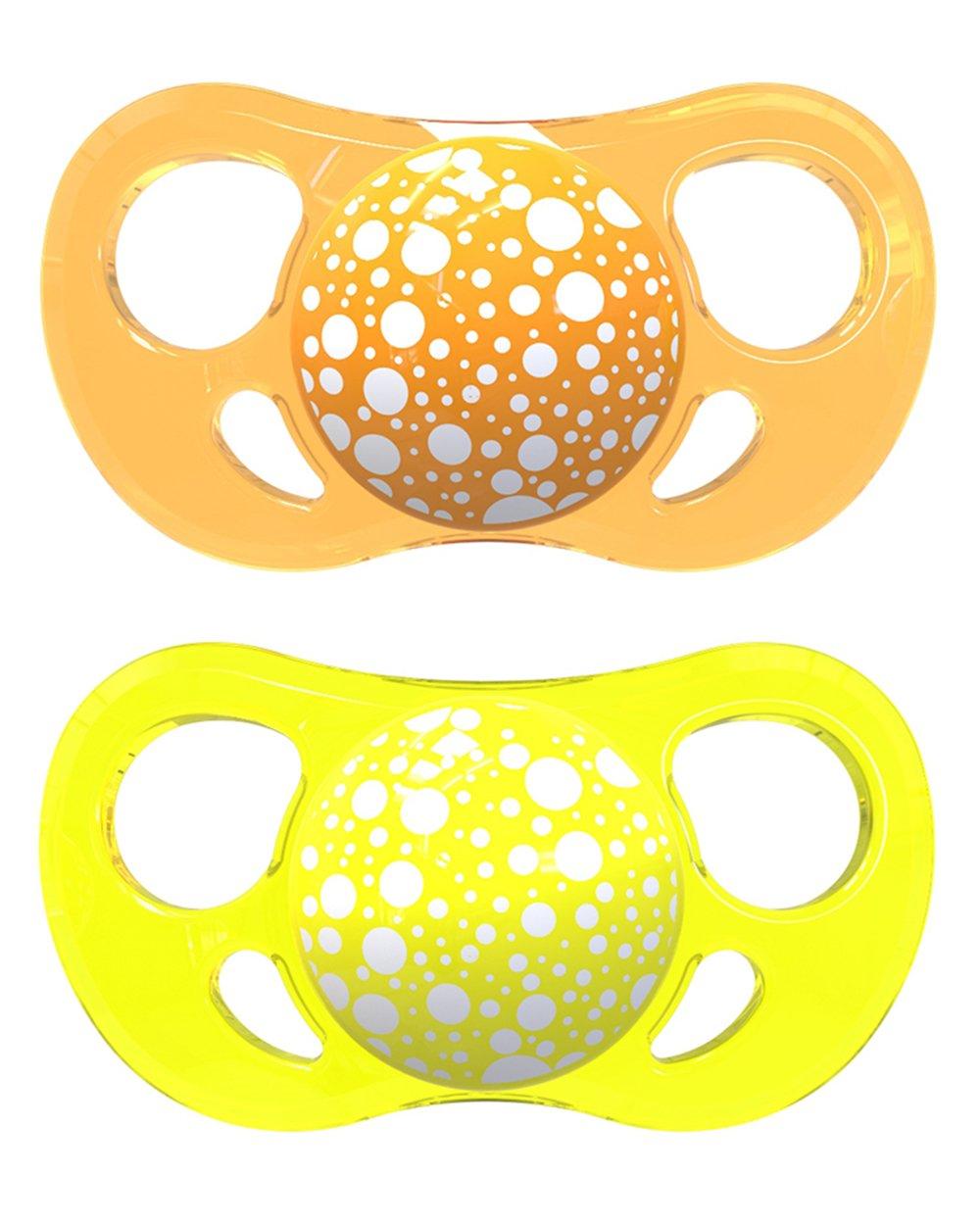 Amazon.com: twistshake 2 x Chupete 6 +, Amarillo y Naranja M ...
