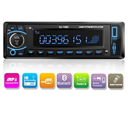 619XH1ynUtL._SX425_ amazon com kidcia car stereo, single din version, bluetooth in  at couponss.co