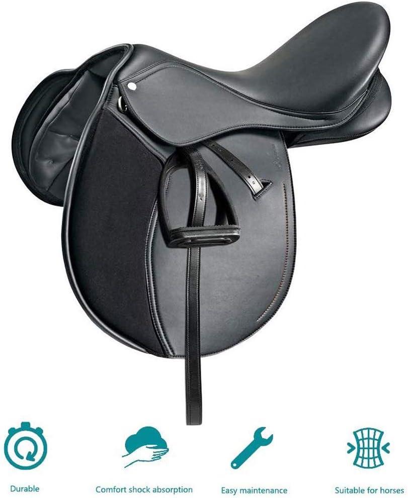 KDKDA Piel hermosa Western Pleasure Trail competir con del barril Mostrar caballo de silla no pegajoso juego de almohadillas de plata Inglés Horse Tack Sillas de montar ecuestre Deporte integral de un