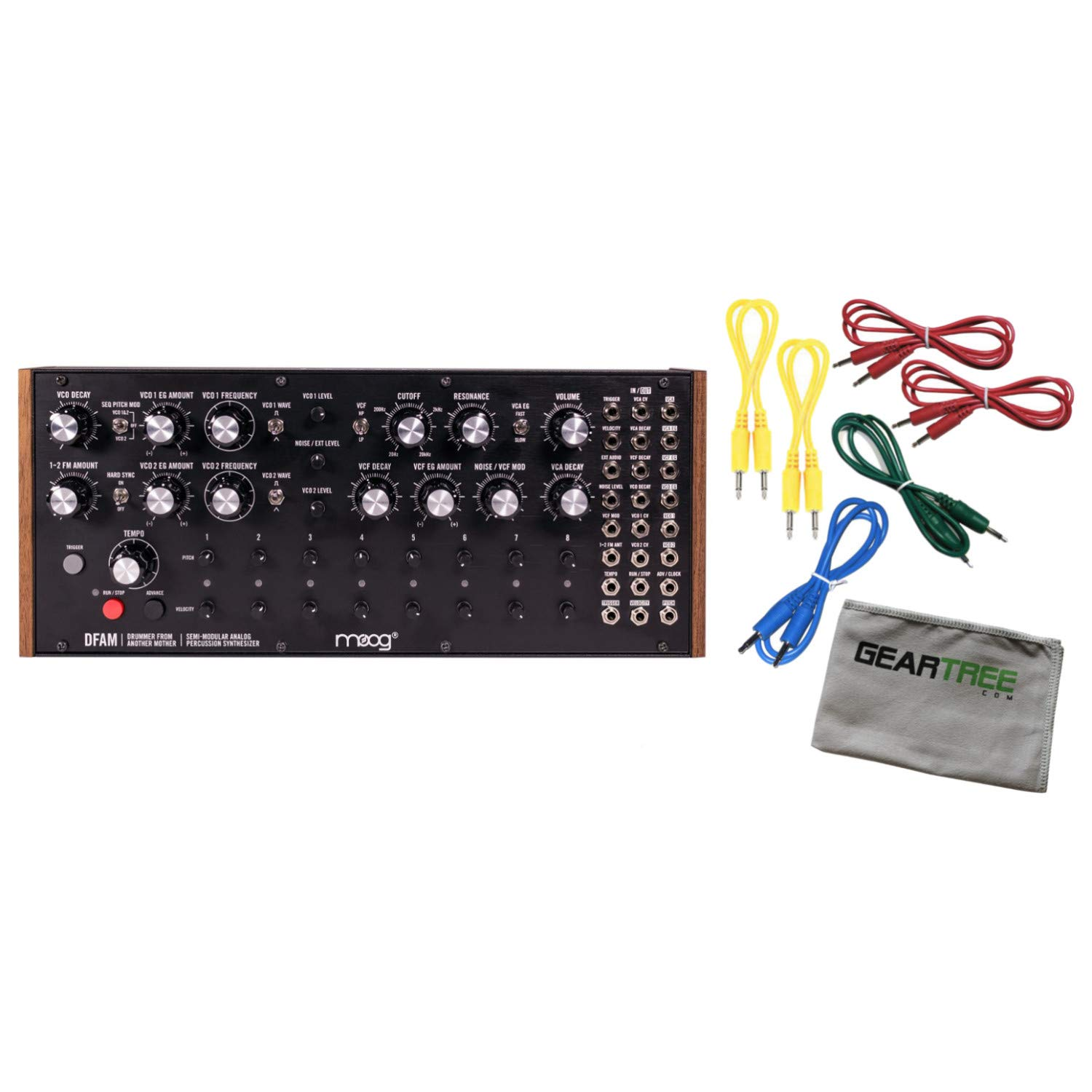 Moog DFAM Semi-Modular Analog Percussion Synthesizer w/ 6 Cables and Cloth