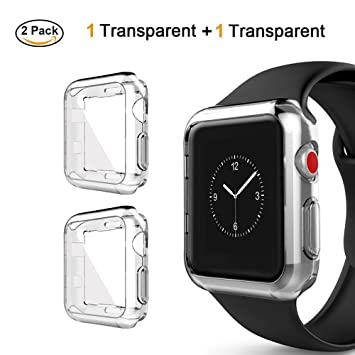 Tervoka - Funda para Apple Watch Bumper, Carcasa de Silicona Ligera y Suave [protección Completa], protección para Apple Watch 44mm Series 4, Sport, ...