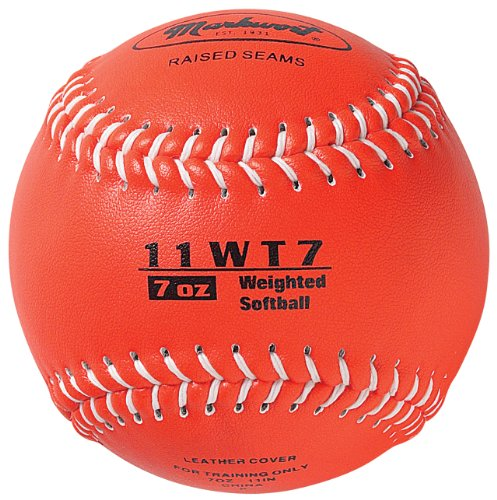 11' Softball Leather Synthetic (Markwort Color Coded Weighted 11-Inch Softball (7-Ounce, Bronze))
