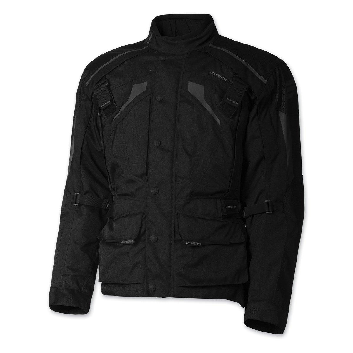 Olympia Moto Sports Men's Richmond Black Textile Jacket, XL