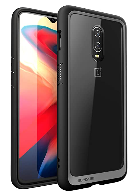 the best attitude 7ba93 915ab SupCase [Unicorn Beetle Style Series Case for OnePlus 6T, Premium Hybrid  Protective Clear Case for 1+ 6t 2018 Release - Retail Package (Black)