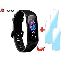 Smartband Huawei Honor Band 5 Bluetooth + 2 Peliculas + Pulseira Extra Azul (Preto)