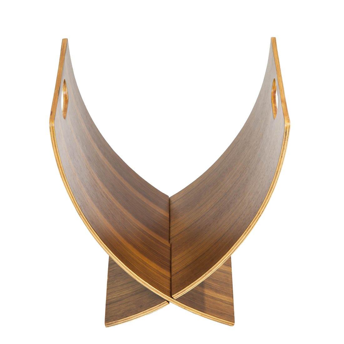AC Design Furniture Furniture Furniture 0000001096 Rasmus-Halterung Zeitschrift Nagellack Walnuss 24 x 33 x 37 cm 2243ab