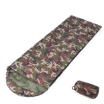 Saco de Dormir de Camuflaje Tipo 3-4 Estaciones Cuello con cordón Adecuado para el Senderismo y el Senderismo.: Amazon.es: Deportes y aire libre
