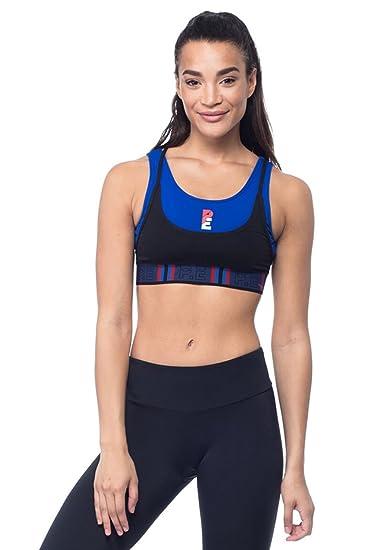 7206878582 P.E NATION Women s Active Workout Advantage Layered Crop Bra Yoga Top - XS