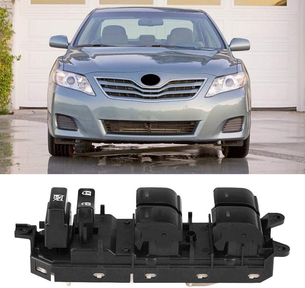 lato sinistro Interruttore alzacristalli lato conducente per Toyota Land Cruiser Prius Camry 84040-3310 Qiilu Interruttore alzacristalli elettrico