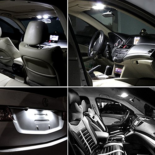 - OCPTY 8 Pack White Accessories Replacement Package Kit Replacement fit for 2006-2012 Lexus IS250 IS350 LED Bulb LED Interior Lights