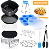 Square Air Fryer Accessories 11 pcs with Recipe Cookbook Compatible for Philips Air Fryer, COSORI and other Square…