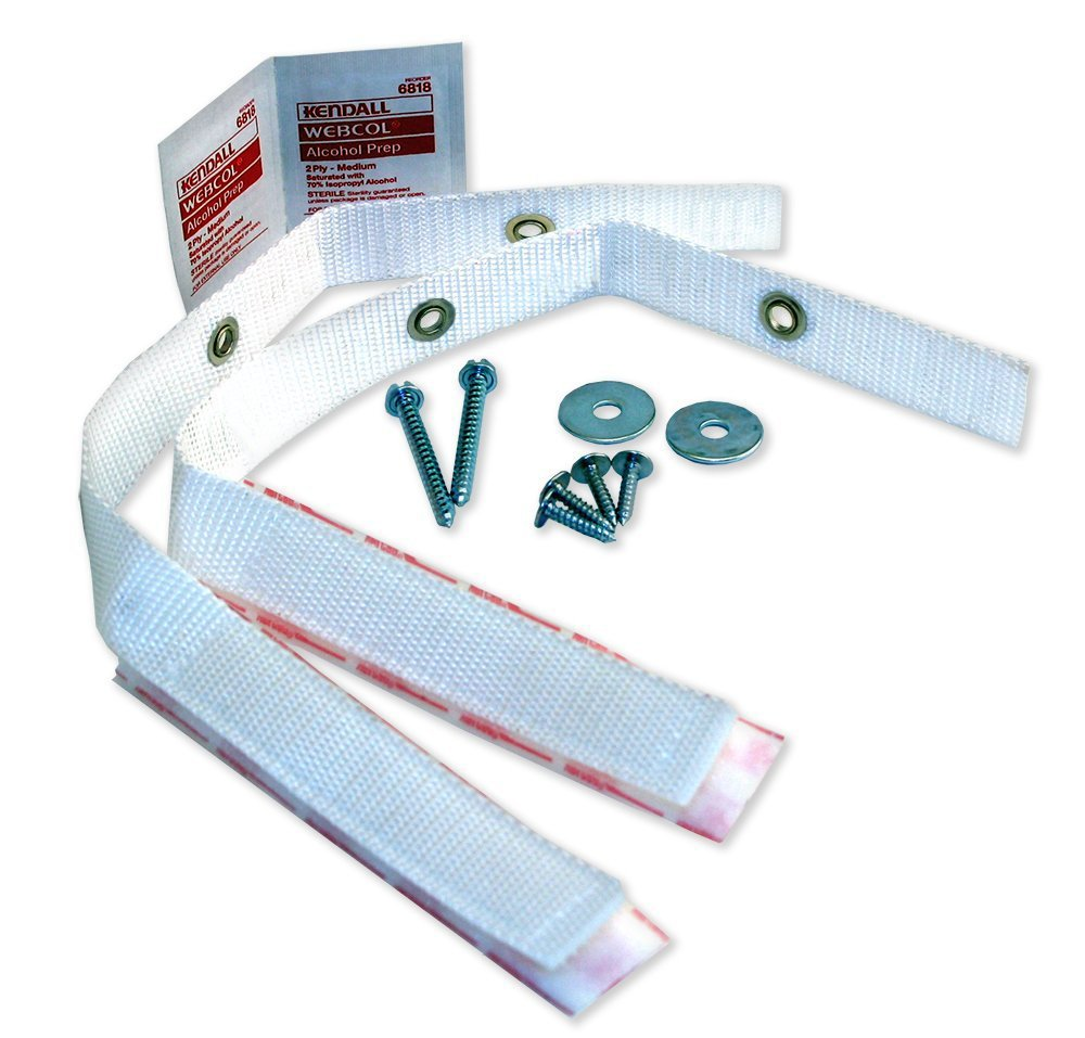Quakehold! 4164 Furniture Strap Kit, White