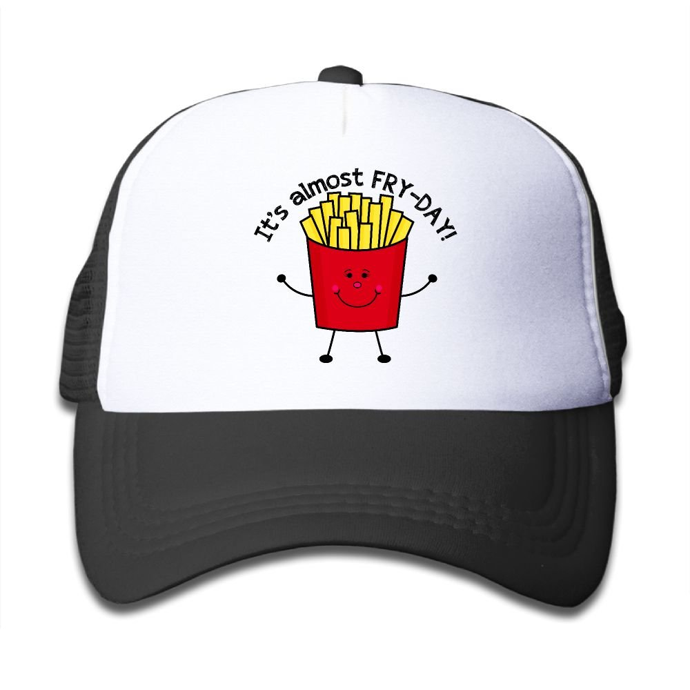 Elephant AN Fry Day French Fries Mesh Baseball Cap Kid Boys Girls Adjustable Golf Trucker Hat