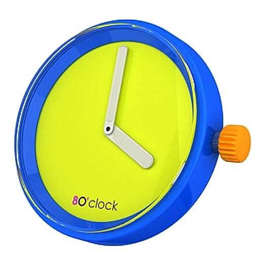 Fullspot O clock OCF31 - Reloj analógico de cuarzo unisex, correa de silicona multicolor (