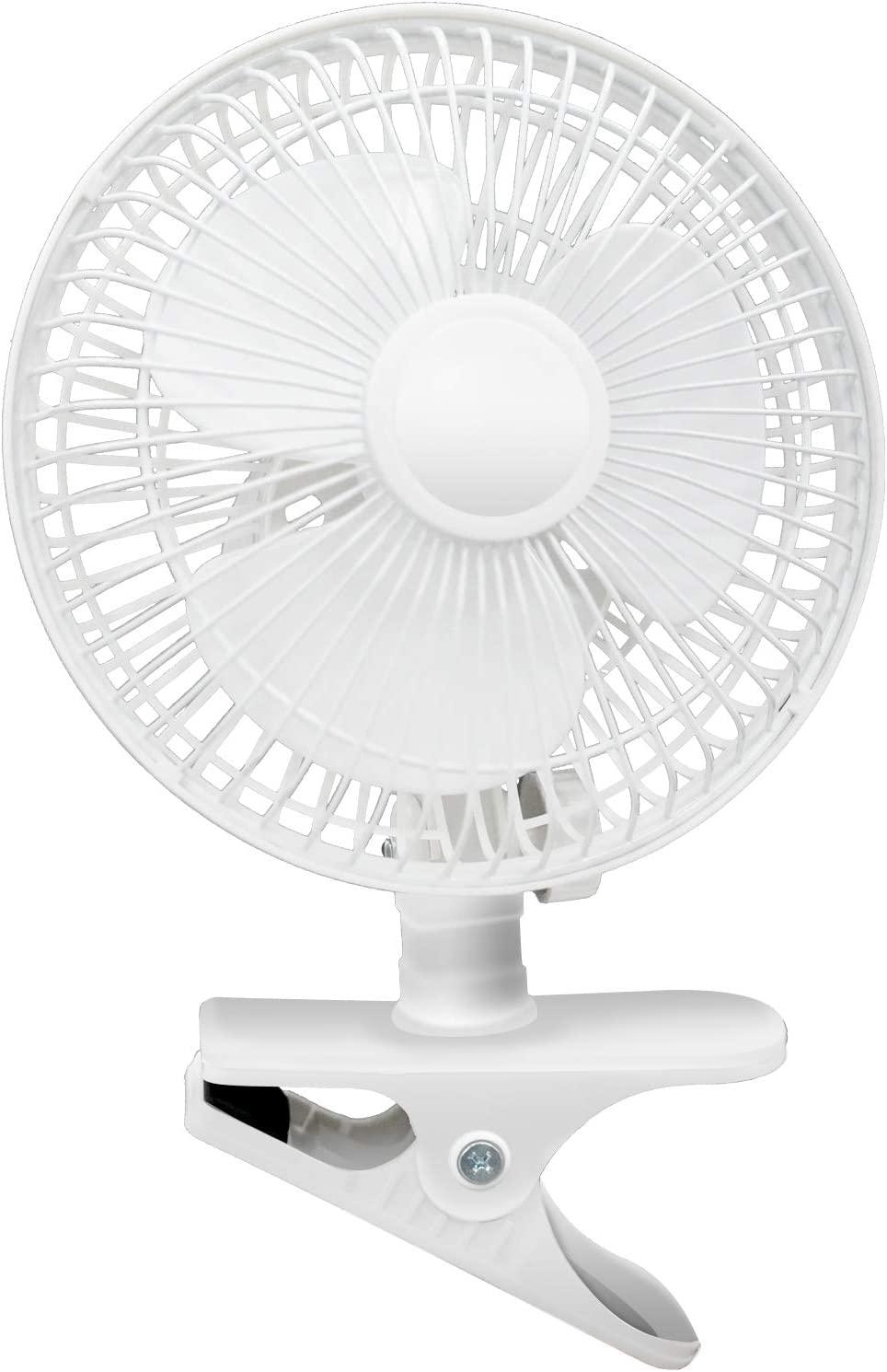 BEYOND BREEZE Clip Fan Two Quiet Speeds,Strong Grip Clamp, Adjustable Tilt,Ideal for Home,Office,Dorm,6 Inch,White