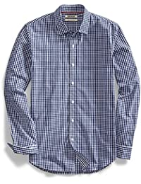 Men's Slim-Fit Long-Sleeve Gingham Shirt