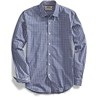 goodthreads playera manga larga Gingham camisa