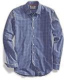 Goodthreads Men's Slim-Fit Long-Sleeve Gingham Shirt, Navy/White, Large