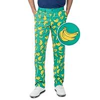 Tipsy Elves Men's Loud Golf Pants - Wild Golfing Pants Golf Outfit for Men