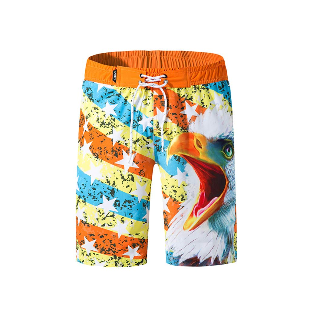 NUWFOR Men's Shorts Swim Trunks Quick Dry Beach Surfing Running Swimming Watershort M Waist:29.9-39.4''