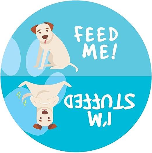 El perro ha sido alimentados Reversible signo