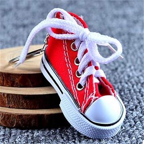 LMYXY Lindo llavero 1 Unids/Mini Zapatos De Lona De Silicona ...