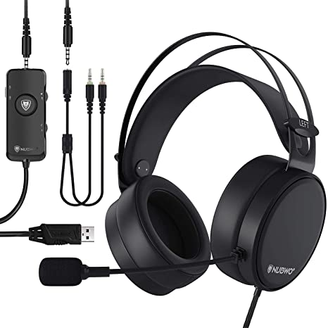 NUBWO N7 USB Gaming Headset, 7.1 Surround Sound Headphones with Noise on