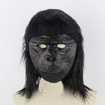 Circlefly Máscara de chimpancé Halloween Peluca Funny Scary máscara de Animales niños