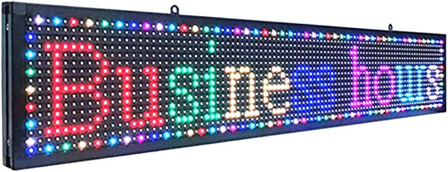 CX-P10 7-Color Indoor led Sign programmable USB&WiFi Rolling Information LED Display