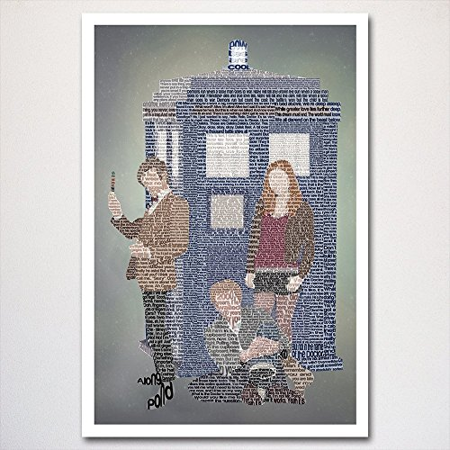 Doctor Who: Eleventh Doctor word art poster