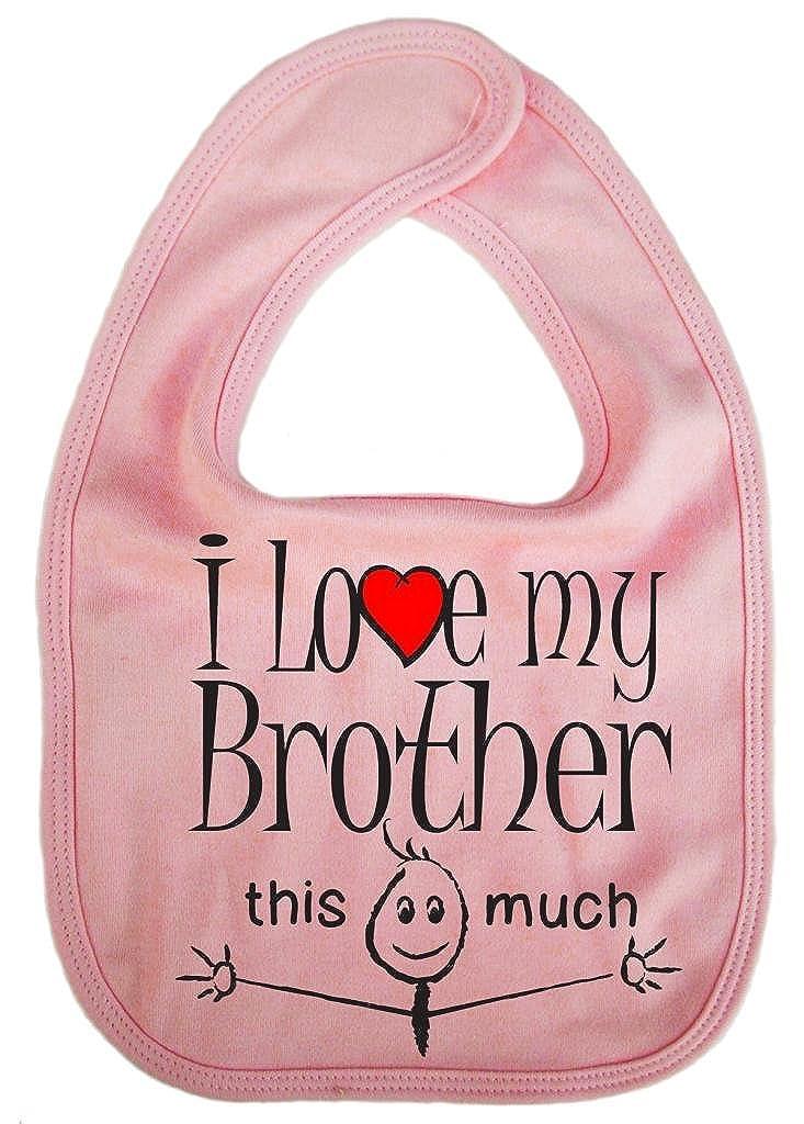 IiE con forma de Unisex babero reci/én nacido esta much I love my Brother