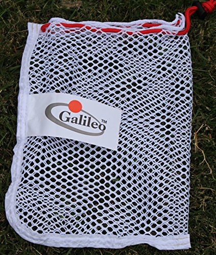 Mesh Golf Pouch (Galileo Nylon Mesh Pouch 48 Golf Tennis Balls Carrying Holder Bag/soccer carrying holder bag (Small))