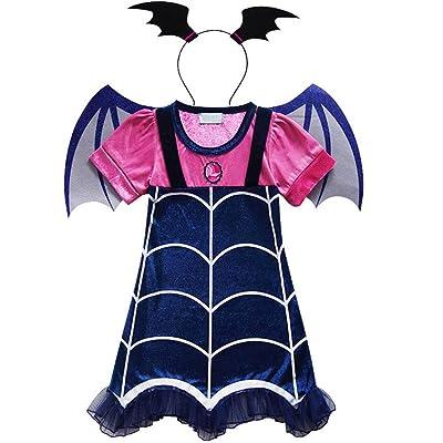 KUFV Vampirina Cartoon Deisign Half Sleeves Costumes Dress For Party Celebration: Clothing