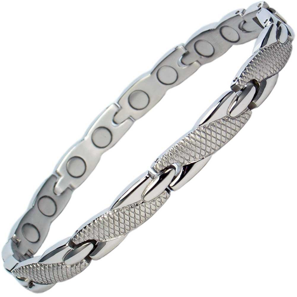 IonTopia Aphrodite Stainless Steel Magnetic Therapy Bracelet with Free Links Removal Tool
