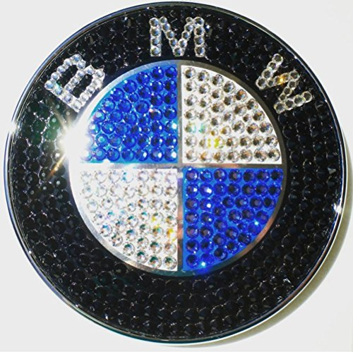 BMW Car emblem Blinged out with swarovski Crystals, Bling car accessories, bmw car emblem logo, bmw accessories, bling car decor, by AllureDesignz