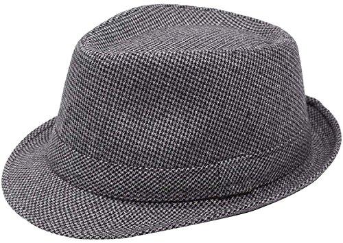 Simplicity Unisex Timelessly Classic Manhattan Fedora Hat, - Mall Manhattan
